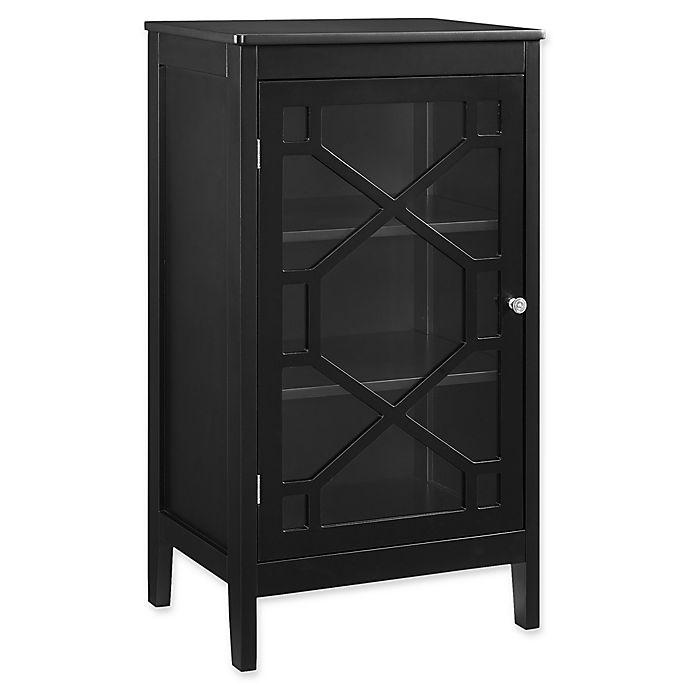 Alternate image 1 for Linon Home Felicia Small Cabinet in Black