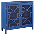 Linon Home Felicia Large Cabinet in Blue