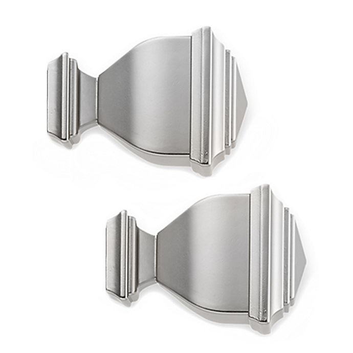 Alternate image 1 for Cambria® Premier Complete Napoleon Finial in Brushed Nickel (Set of 2)