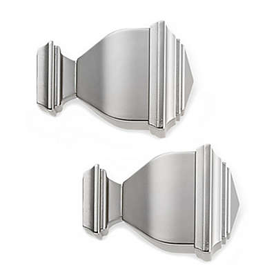 Cambria® Premier Complete Napoleon Finial in Brushed Nickel (Set of 2)