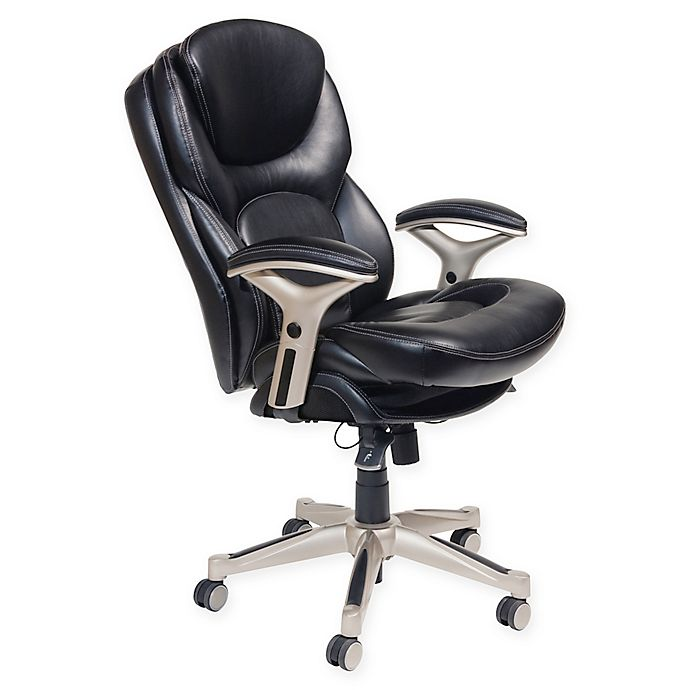 Serta Wellness By Design Mid Back Leather Office Chair Bed Bath