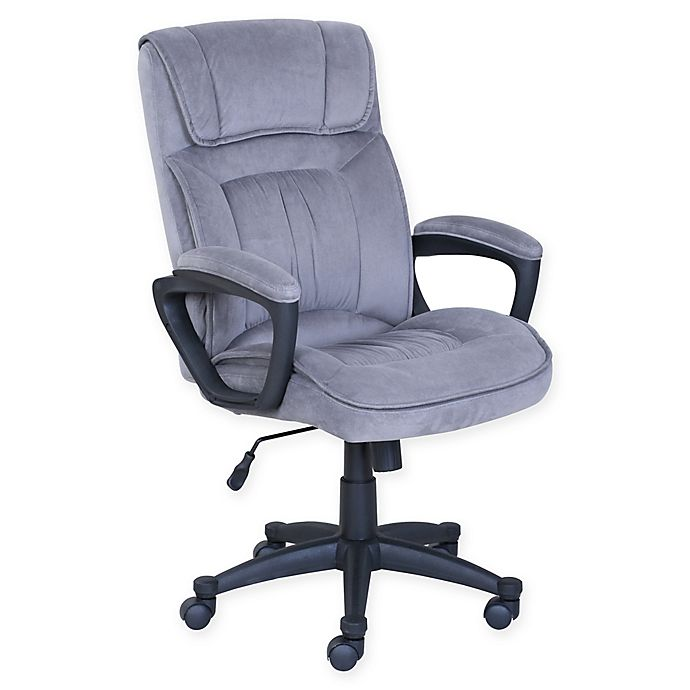 Alternate image 1 for Serta® Executive Office Chair in Grey Micofiber