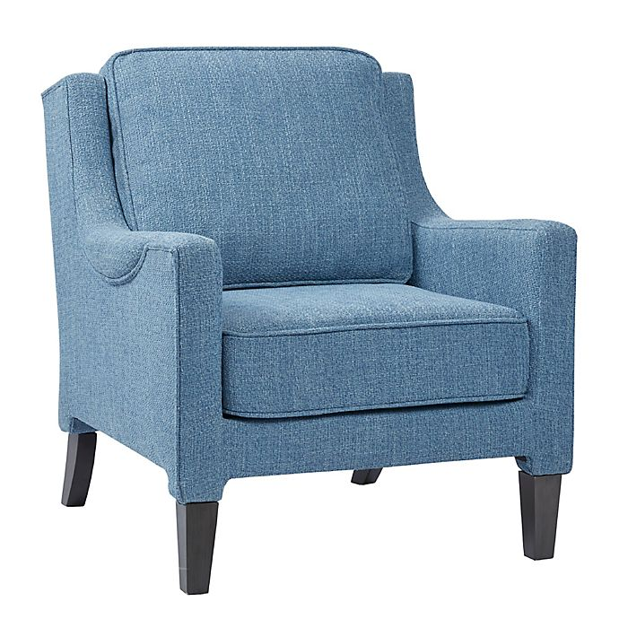 Admirable Madison Park Signature Track Accent Arm Chair In Blue Caraccident5 Cool Chair Designs And Ideas Caraccident5Info
