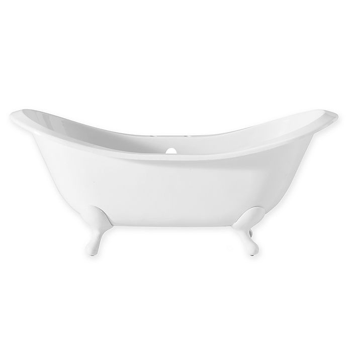 Alternate image 1 for Cheviot Regency 72-Inch Cast Iron Bathtub with 6-Inch Drill and Iron Feet