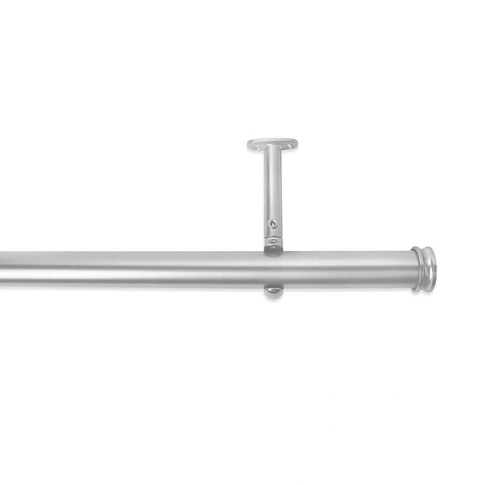 Alternate image 1 for Cambria® Premier Complete Decorative Drapery Rod in Brushed Nickel