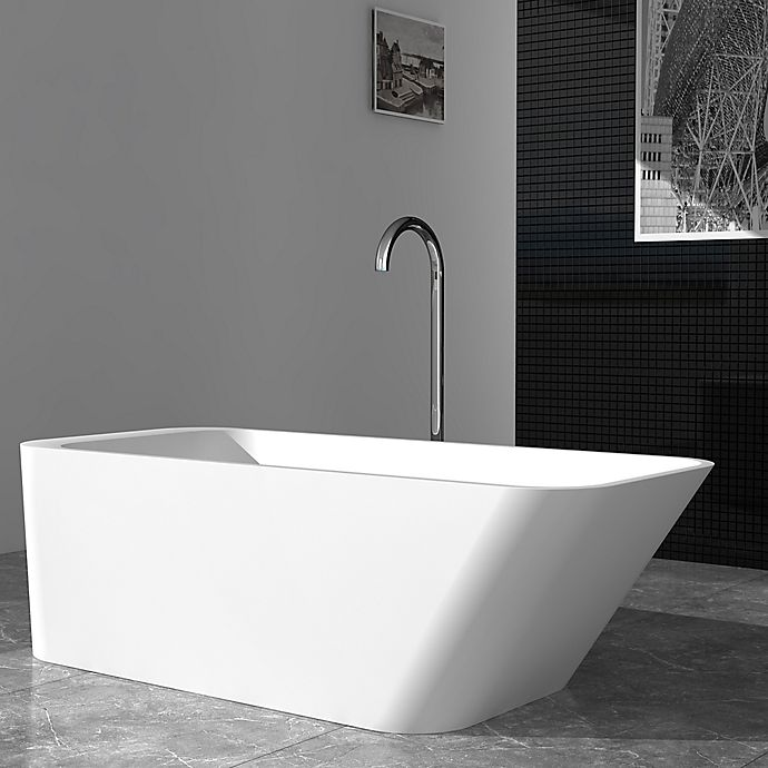 Alternate image 1 for Cheviot Marco 67-Inch Solid Surface Bathtub in White