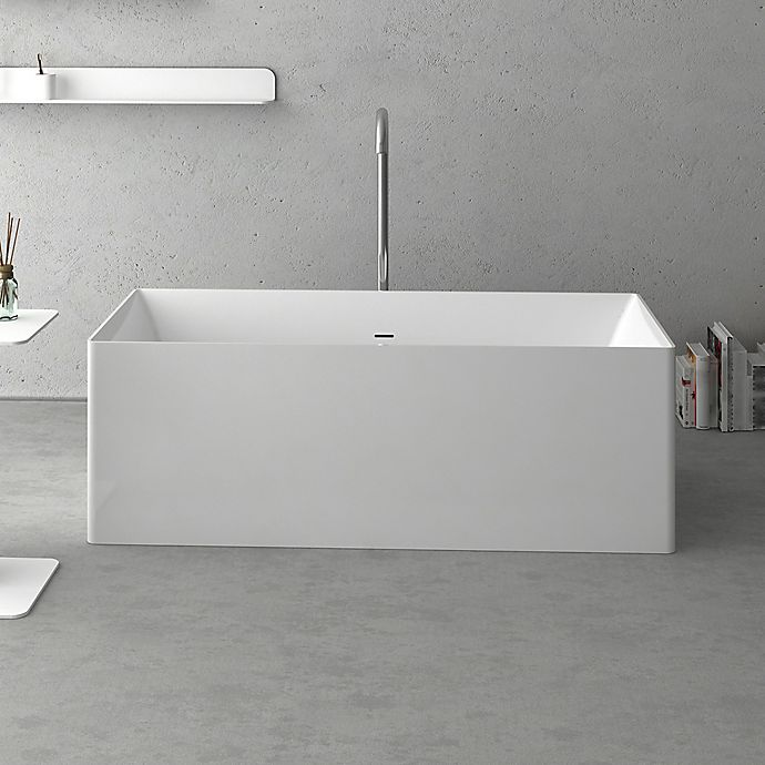 Alternate image 1 for Cheviot Navona 63-Inch Solid Surface Bathtub in White