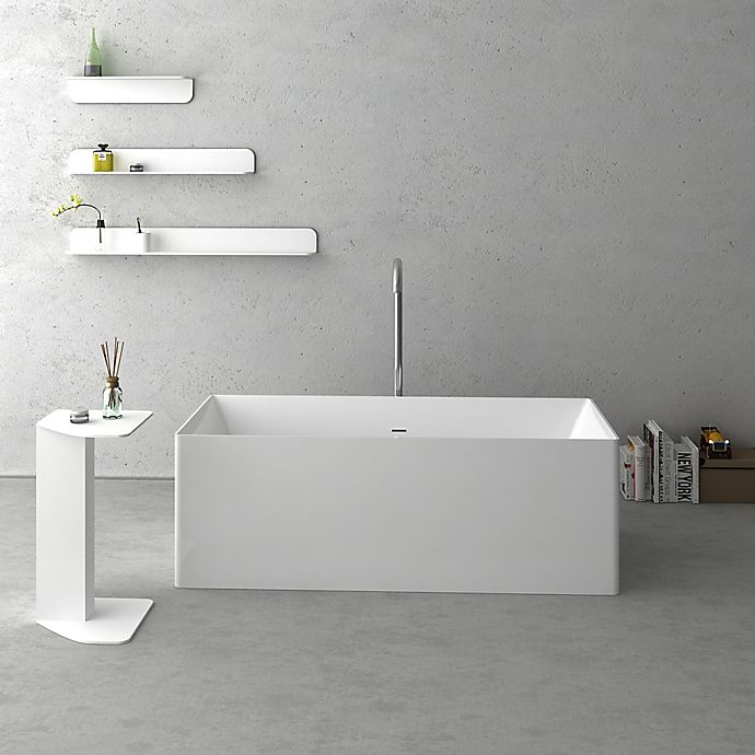 Alternate image 1 for Cheviot Navona 69.88-Inch Solid Surface Bathtub in White
