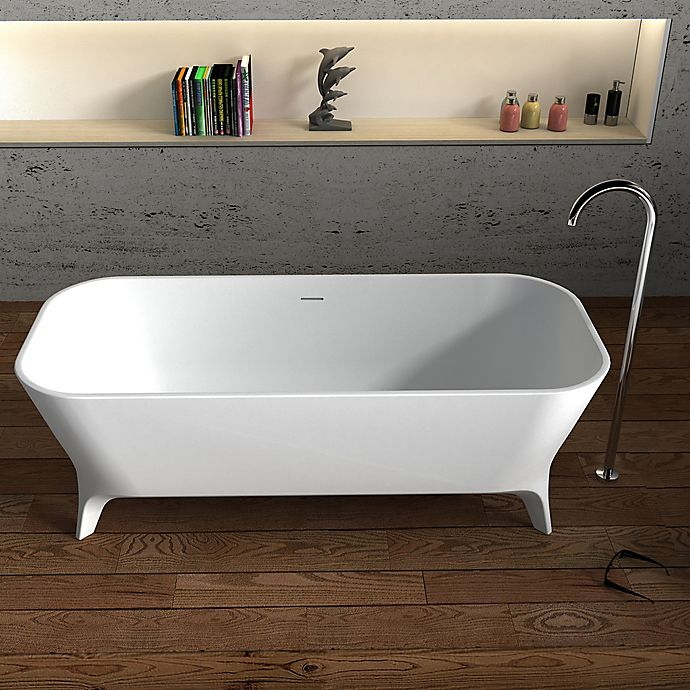 Alternate image 1 for Cheviot Palermo 70.75-Inch Solid Surface Bathtub in White