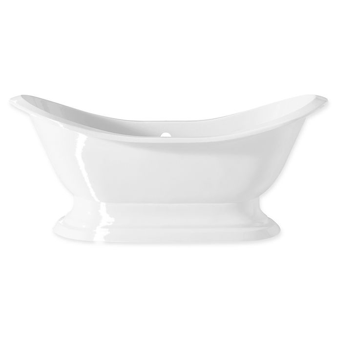 Alternate image 1 for Cheviot Regency 72-Inch Cast Iron Tub with Pedestal Base in White