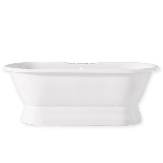 Alternate image 1 for Cheviot Regal 61-Inch Cast Iron Bathtub with Pedestal Base in White