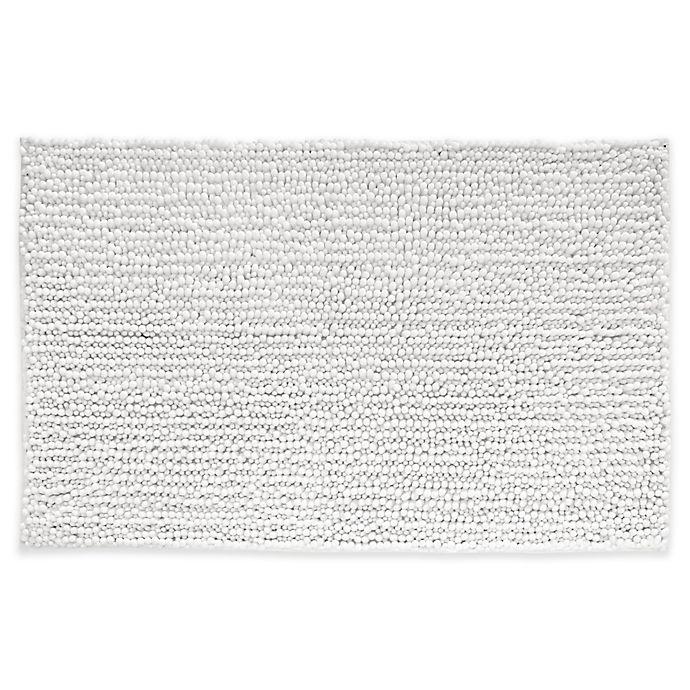 Alternate image 1 for iDesign® 30-Inch x 20-Inch Microfiber Frizz Bath Rug