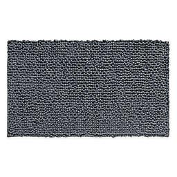 iDesign® 30-Inch x 20-Inch Microfiber Frizz Bath Rug in Grey
