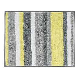 iDesign® 21-Inch x 17-Inch Microfiber Stripz Bath Rug