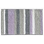iDesign® 34-Inch x 21-Inch Microfiber Stripz Bath Rug in Lavender