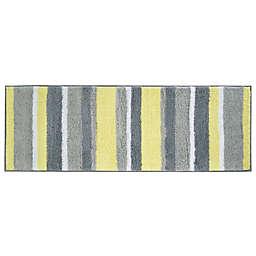 iDesign® 60-Inch x 21-Inch Microfiber Stripz Bath Rug in Yellow