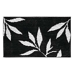 iDesign® 34-Inch x 21-Inch Microfiber Leaves Bath Rug