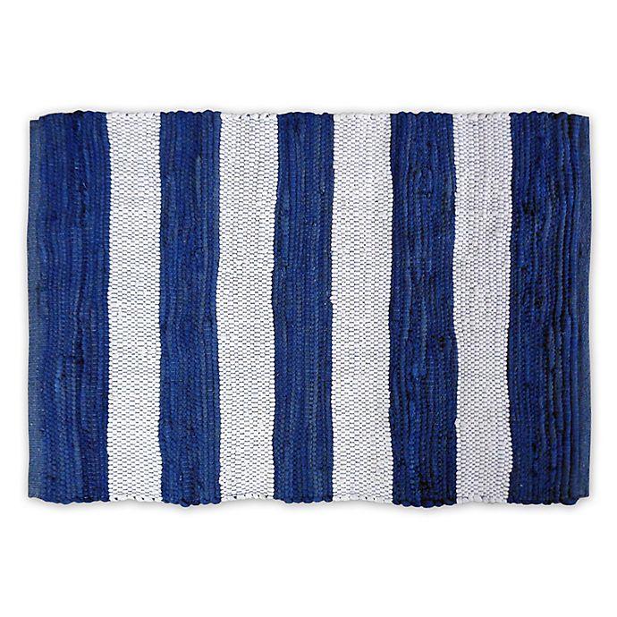 Design Imports Rag Stripe 4 X 6 Area Rug Bed Bath Amp Beyond