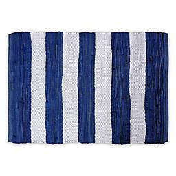 Design Imports Rag Stripe 4' x 6' Area Rug