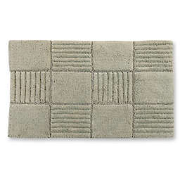 "Castle Hill London Chakkar Board 21"" x 34"" Bath Mat in Light Sage"