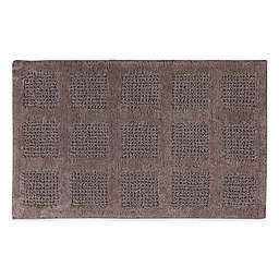 "Square Honeycomb 21"" x 34"" Bath Mat in Stone"