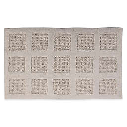 "Square Honeycomb 21"" x 34"" Bath Mat in Ivory"