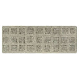 "Square Honeycomb 22"" x 60"" Bath Mat in Light Sage"
