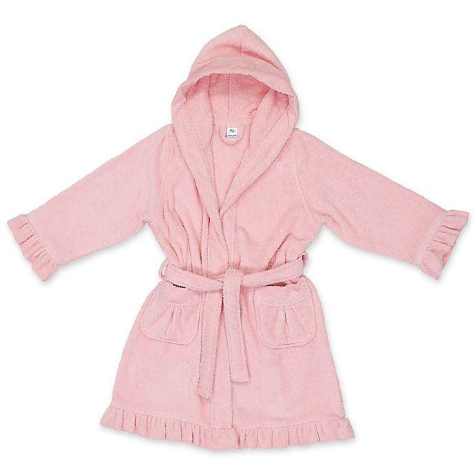 Alternate image 1 for Linum Kids Textiles Turkish Cotton Hooded Bathrobe in Pink