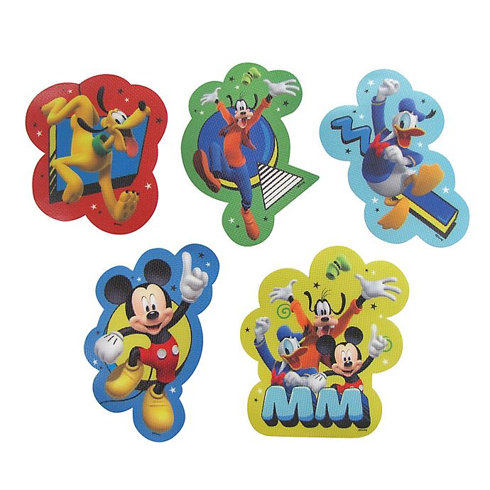Alternate image 1 for Disney® Mickey Mouse 5-Pack Adhesive Bath Treads