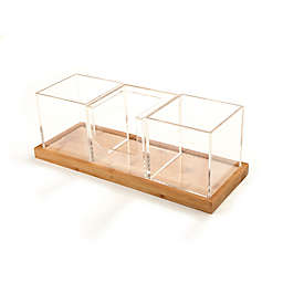 Mind Reader Acrylic 4-Compartment Clear Condiment Organizer