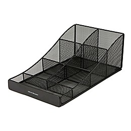 Mind Reader Mesh 7-Compartment Condiment Organizer in Black