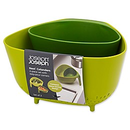 Joseph Joseph® Nest™ 2-Piece Colander Set in Green