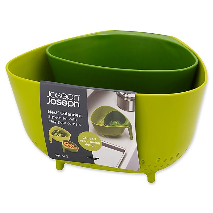 Alternate image 1 for Joseph Joseph® Nest™ 2-Piece Colander Set in Green