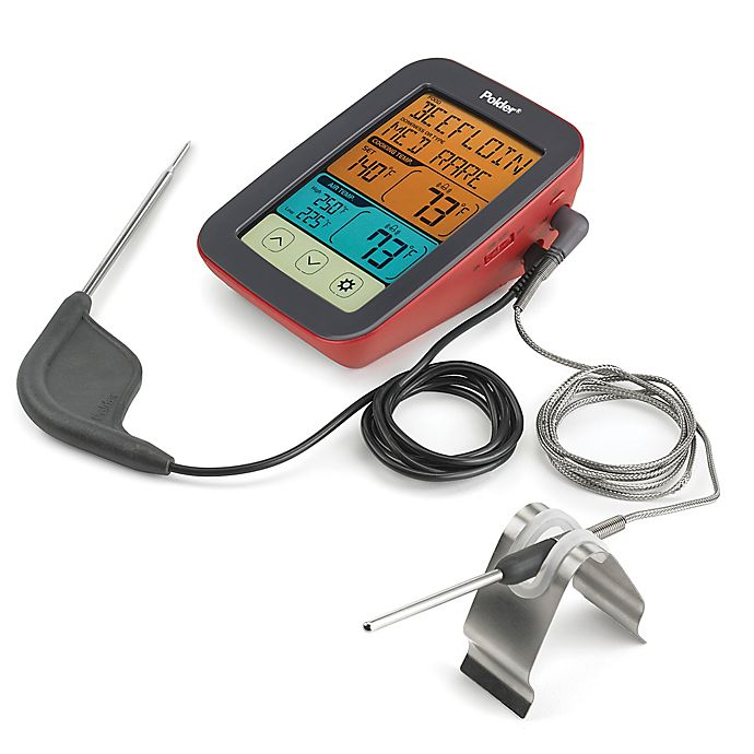 Alternate image 1 for Polder® Digital BBQ/Smoker Dual Temperature Reading Thermometer