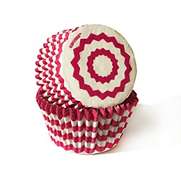 Cupcake Creations™ 32-Count Standard Chevron Baking Cups in Hot Pink