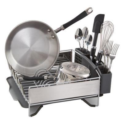 Dish Rack.Kitchenaid Compact Stainless Steel Dish Rack