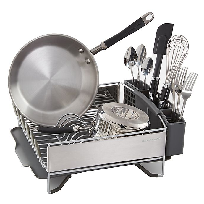 Alternate image 1 for KitchenAid® Compact Stainless Steel Dish Rack