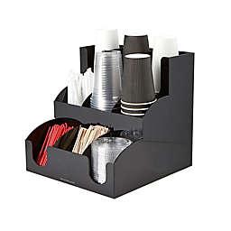 Mind Reader 9-Compartment Condiment Organizer in Black