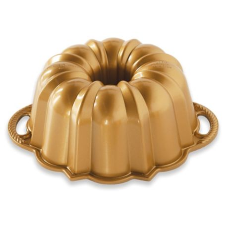 Nordic Ware 174 Anniversary 6 Cup Bundt Pan In Gold Bed