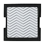 Thirstystone® Embossed Chevron Coaster in Holder (Set of 4)