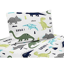 Sweet Jojo Designs® Mod Dinosaur Sheet Set in Turquoise/Navy