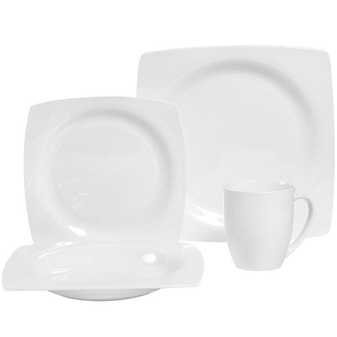 Alternate image 1 for Dario 16-Piece Bone China Dinnerware Set in White