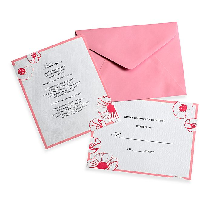 Invitations Set Tone Timeless: Gartner Studios Two Tone Pink Invitation Kit (Set Of 2