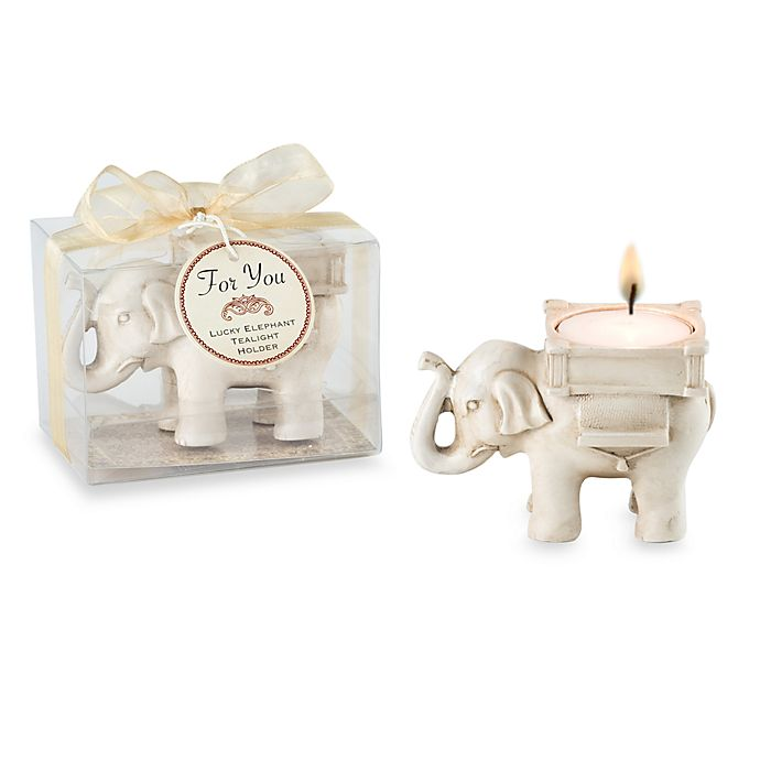Kate Aspen Lucky Elephant Tealight Holder Wedding Favor Bed Bath