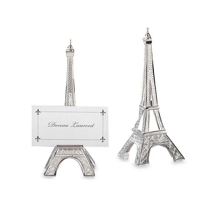 Alternate image 1 for Kate Aspen® Eiffel Tower Place Card Holder Wedding Favor (Set of 4)