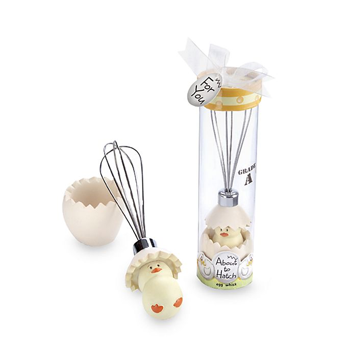 Alternate image 1 for Kate Aspen® About to Hatch Egg Whisk Baby Shower Favor