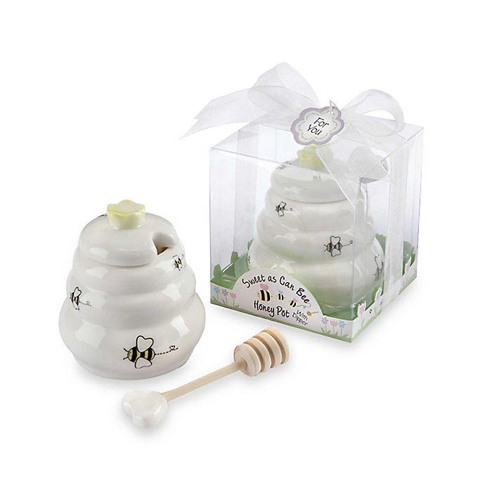 Alternate image 1 for Kate Aspen® Honey Pot with Wooden Dipper Baby Shower Favor