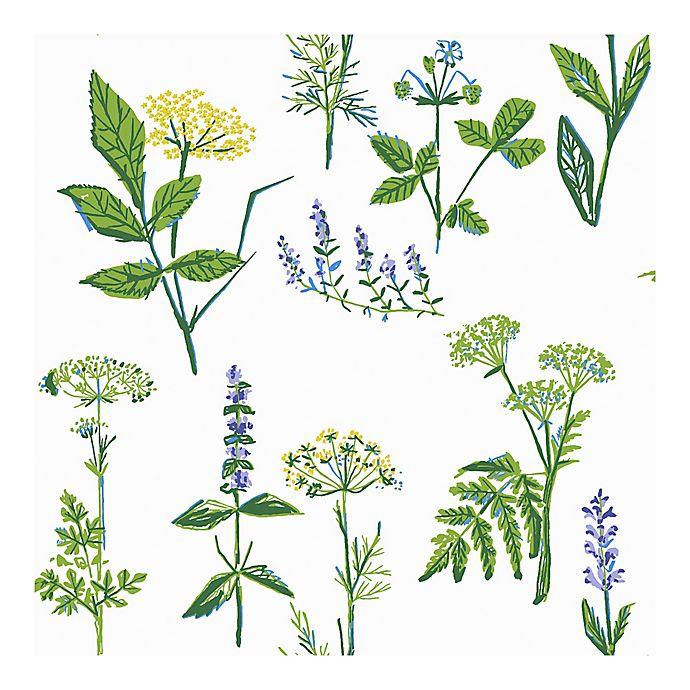 Alternate image 1 for Wall Vision Köksväxter Floral Wallpaper in Green