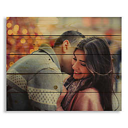 Designs Direct Photo Upload 22-Inch x 18-Inch Pallet Wood Wall Art