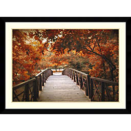 Amanti Art Footbridge 32-Inch x 43-Inch Framed Wall Art